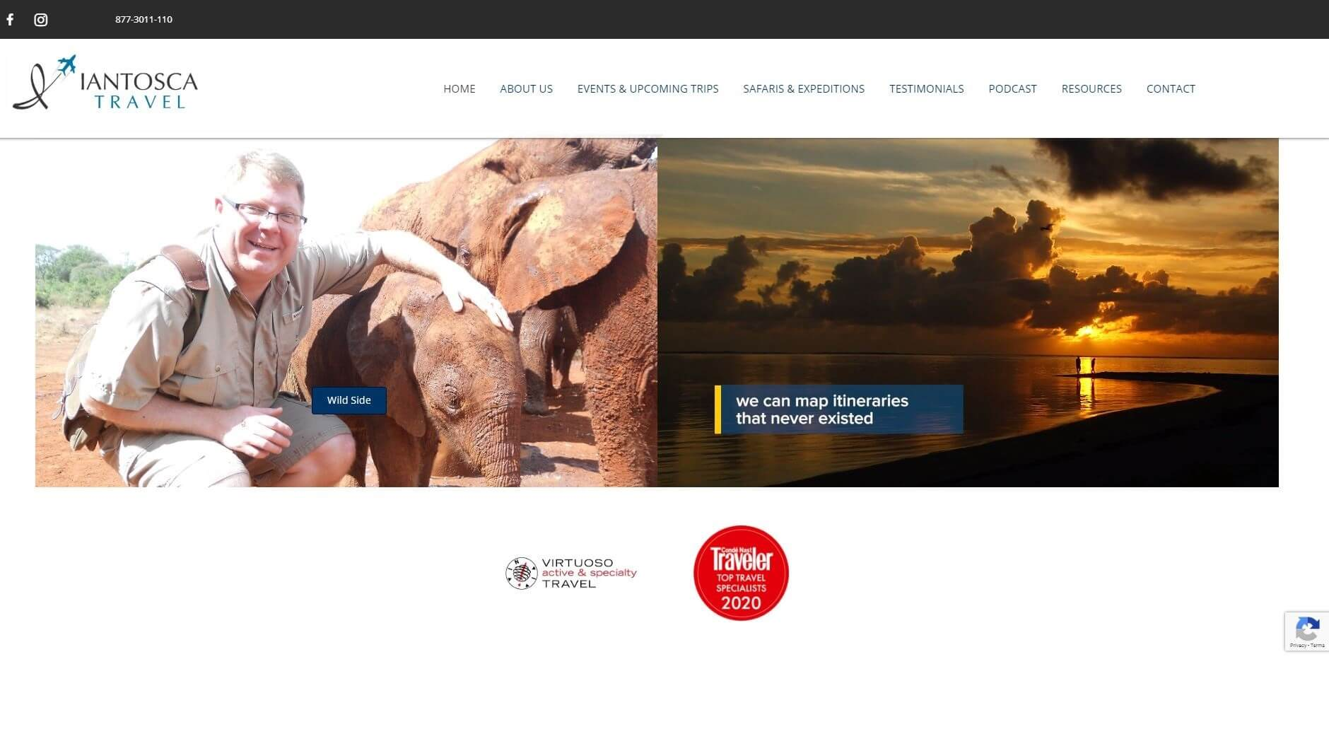 Iantoscatravel homepage